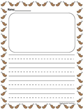 Thanksgiving Writing Paper for Centers