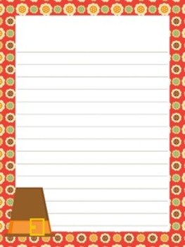Thanksgiving Writing Papers - 3 Styles (7 1/2 x 10)