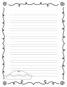 Thanksgiving Writing Papers - Black & White - 3 Styles