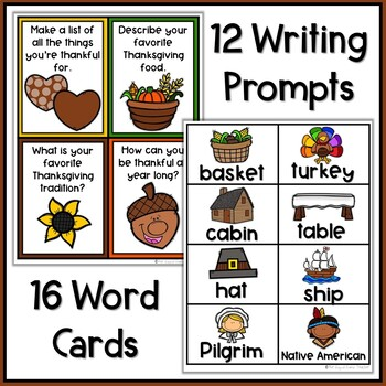 Thanksgiving Writing Papers and Prompts