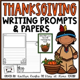 Writing Papers and Prompts - Thanksgiving