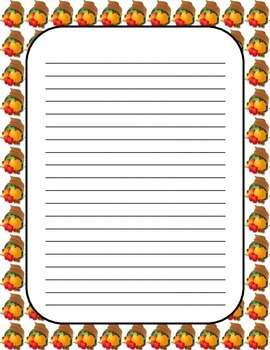 Thanksgiving Writing Papers and Writing Prompts