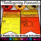 Thanksgiving Writing Pennants