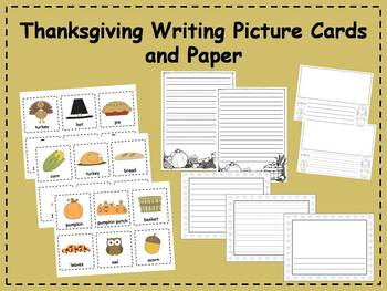 Thanksgiving Writing Picture Cards and Paper Center