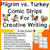 Thanksgiving Writing : Pilgrim vs. Turkey Comic Strips