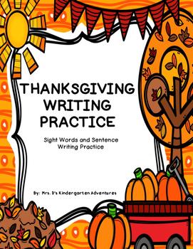 Thanksgiving Writing Practice