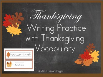 Thanksgiving Writing Practice with Thematic Vocabulary