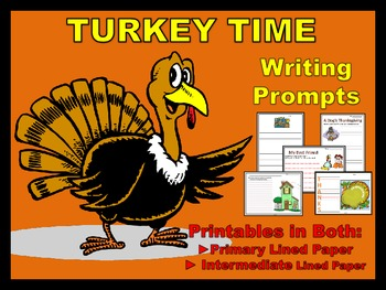 Thanksgiving Writing Printables (Centers)
