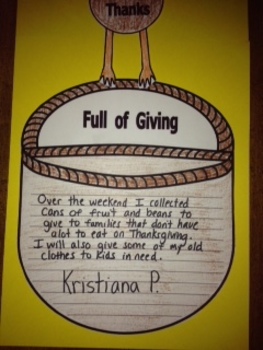 Thanksgiving Writing Project