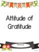 Thanksgiving Writing Project: Attitude of Gratitude