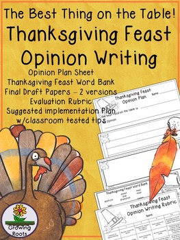 Thanksgiving Writing: Opinion Writing