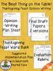 Thanksgiving Writing: Opinion Writing