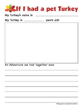 Thanksgiving Writing Prompt Activity