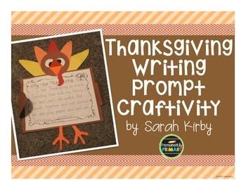 Thanksgiving Writing Prompt Craftivity
