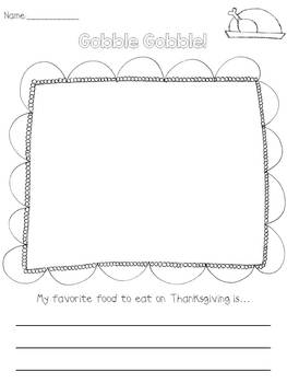 Thanksgiving Writing Prompt Freebie