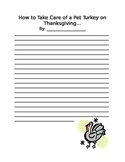 Thanksgiving Writing Prompt- Lined Paper