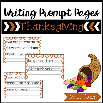 Thanksgiving Writing Prompt Pages