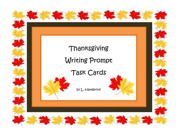 Thanksgiving Writing Prompt Task Cards