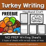 Thanksgiving Writing Prompt - Turkey Headband Craft