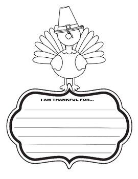 Thanksgiving Writing Prompt Turkey art coloring kids activity