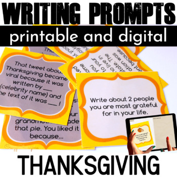 Thanksgiving Writing Prompts {42 cards}