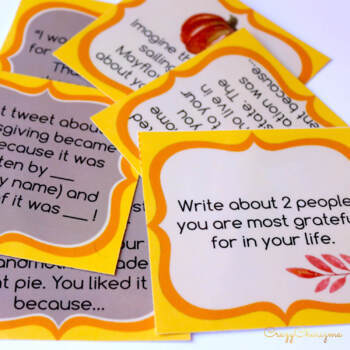 Thanksgiving Writing Activities Thanksgiving Writing Prompts