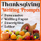 Thanksgiving Writing Prompts, Activities and Planning Temp