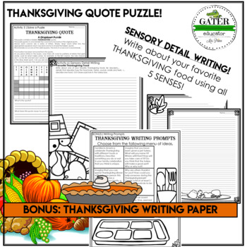 Thanksgiving Writing Prompts   Thanksgiving Activities   Thanksgiving Riddles