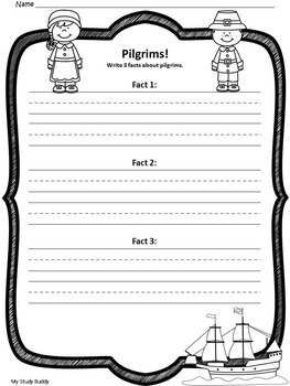 Thanksgiving Writing Prompts (First Grade)