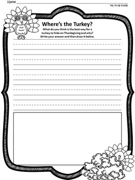 Thanksgiving Writing Prompts (First Grade, Fall Activities)