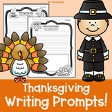 Thanksgiving Writing Prompts (First Grade Writing Prompts, Fall Activities)