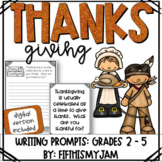 Thanksgiving // Writing Prompts: Grades 2 - 5