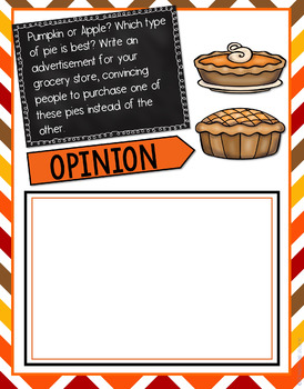 Thanksgiving Writing Prompts - Interactive Digital Google Version