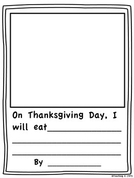 Thanksgiving Writing Prompts Kindergarten, 1st, 2nd, 3rd grade