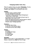 Thanksgiving Writing Prompts - Realistic Fiction & Opinion