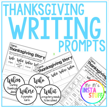 Thanksgiving Writing Prompts - Writing Frame Bundle