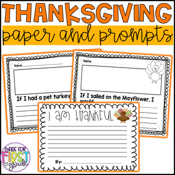 Thanksgiving Writing: Paper and Prompts