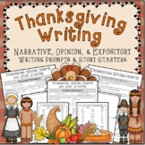 Thanksgiving Writing Prompts and Story Starters *Writing A