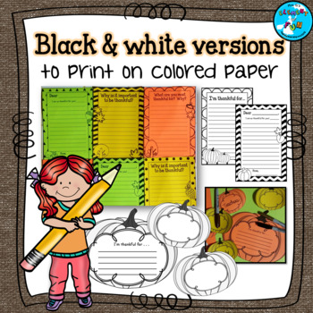 Thanksgiving Writing Prompts and Templates - Autumn Freebie