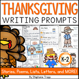 Thanksgiving Writing Prompts for Kindergarten, First Grade