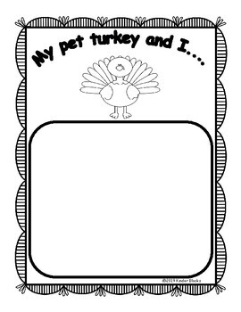 Thanksgiving Writing Prompts for Pre-K, Kindergarten, or First Grade