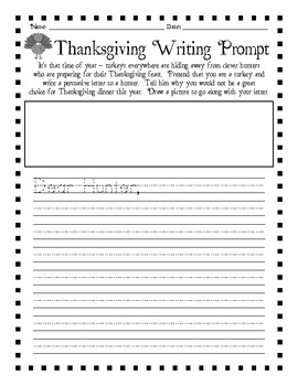 thanksgiving creative writing prompts Writing prompts are useful because we know sometimes it can be hard to think of what to write about to help you brainstorm, we put together this list of 365 creative writing prompts to give you something to write about daily.