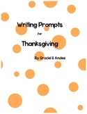Thanksgiving Writing Prompts for Primary inspired by a 1st grader