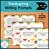 Thanksgiving Writing Prompts for upper elementary and midd
