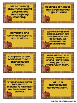 Thanksgiving Writing Prompts in a Jar