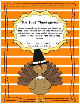 Thanksgiving Writing, Reading Comprehension & Research Projects Freebie