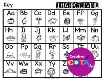 Thanksgiving Writing Secret Code Activities and Worksheets