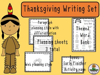 Thanksgiving Writing Set: Plan, Write & Publish- Thankful, How to Writing