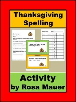 Thanksgiving Spelling Language Arts Activities