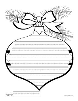 Christmas Writing Story Poem Pages Papers 50 Pk +BONUS 12 Days of Christmas